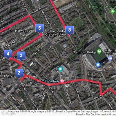 Oratory Mile Map 2018