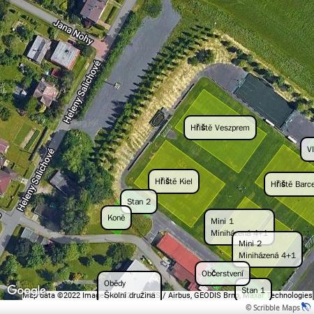 Mapa sportovního areálu