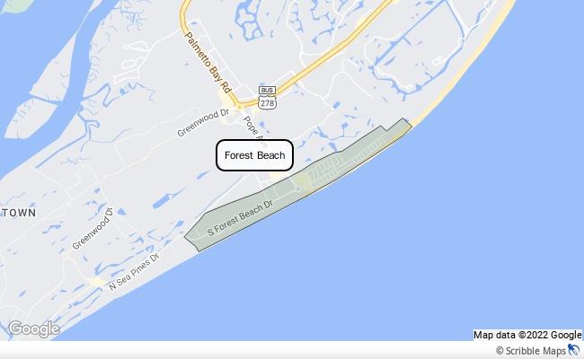 Forest Beach Hilton Head Island Real Estate Brokers - North forest beach hilton head map