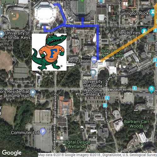 map of UF