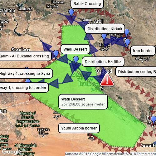 Iraq, Smuggling Routes