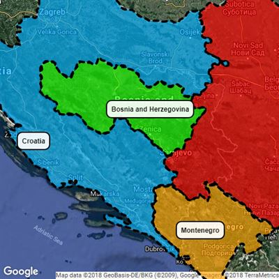 The least border gory Bosnia partition.