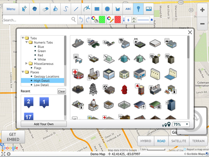 Draw on maps and make them easily for Create a program online